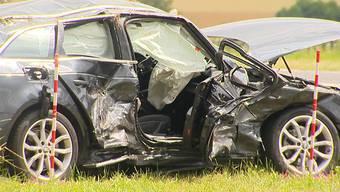 Nach Verkehrsunfall in Gunzwil: Schwerverletzter im Spital verstorben.