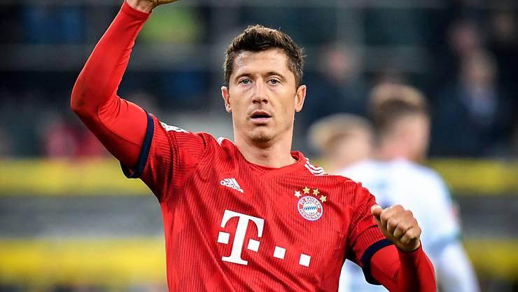 Der Pole Robert Lewandowski erzielte 197. Tore in der Bundesliga für Borussia Dortmund und Bayern München