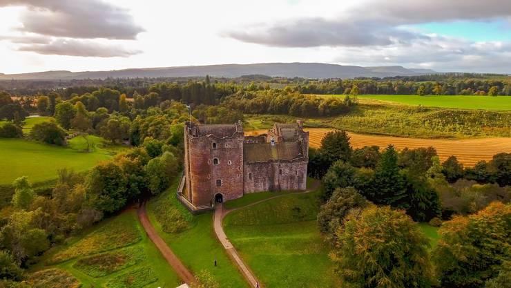 Das Doune Castle: Die spätmittelalterliche Burg fasziniert Touristen und diente als Szenerie für «Monty Python» und «Game of Thrones». Bild: Shutterstock