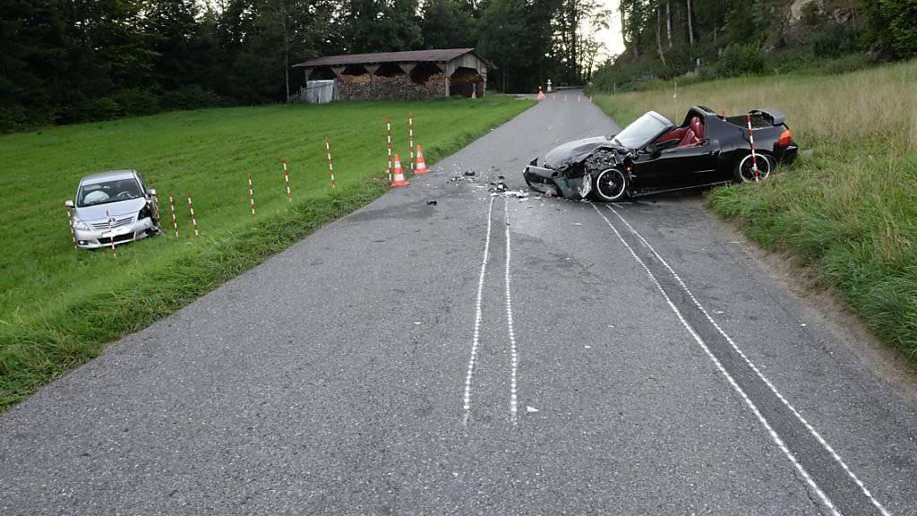 Ein Tag nach dem Unfall in Schachen LU verstarb ein beteiligter Autofahrer im Spital.