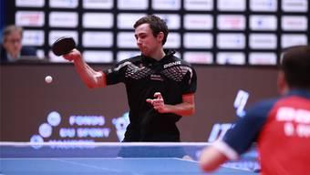 Lionel Weber schlug sich im letzten Jahr in Montreux wacker. Trotzdem verlor er seinen Achtelfinal gegen den an Nummer 1 gesetzten Dimitri Ovtcharov.
