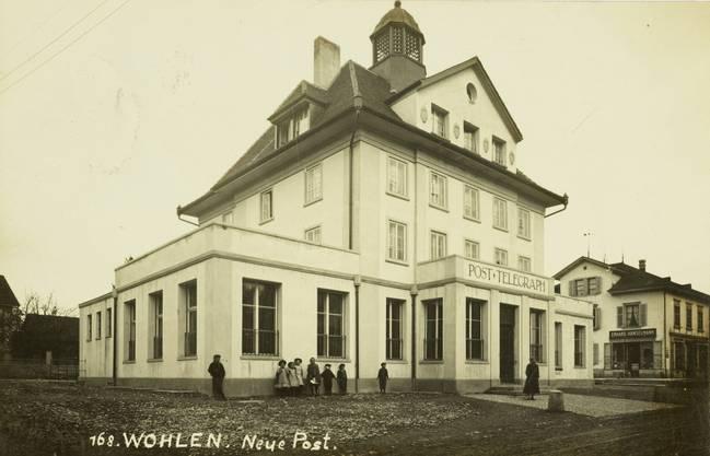 Die Wohler Hauptpost in einer Aufnahme von 1912 unmittelbar nach der zweiten Erweiterung durch Posthalter Martin Wohler.