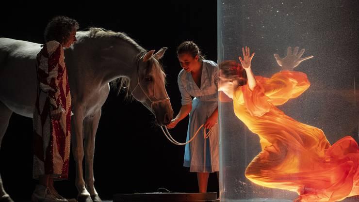 Zirkus? Kino? Drogentrip? Philip Glass' «Einstein on the Beach» am Grand Théâtre de Genève zeigt, was Oper alles sein kann, wenn sie darf. Bild: Carole Parodi