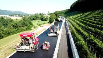Der Aargau setzt auf Recycling-Strassen