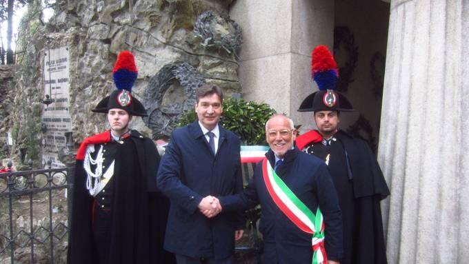 Grenchner Delegation an den Mazzini-Feierlichkeiten in Genua