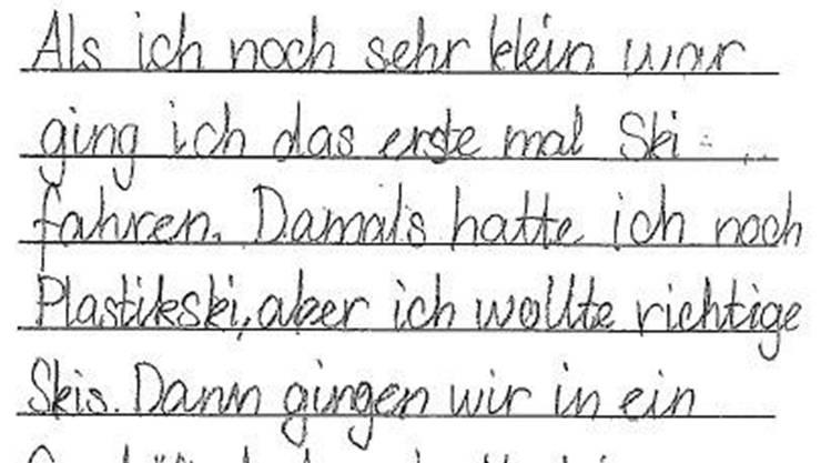 Dank der Basisschrift schreiben Schulkinder schneller, besser und lieber.