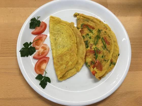 Dem Original zum Verwechseln ähnlich: Die Omelette aus dem veganen Ei.
