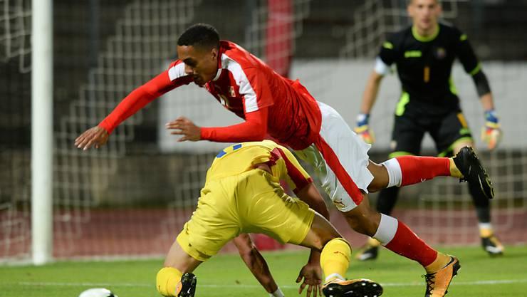 Aufgelaufen: Kein Durchkommen für Marvin Spielmann gegen Rumänien