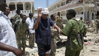 Szene nach dem Anschlag vom Dienstag in Mogadischu.