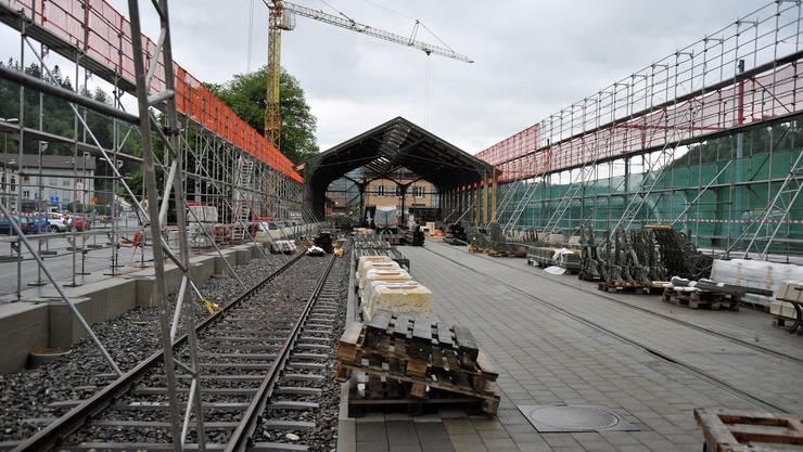 Die «Oltner» respektive «Basler» Bahnhofshalle wird in Bauma in ihrer vollen Grösse von 101 mal 17 m neu aufgebaut