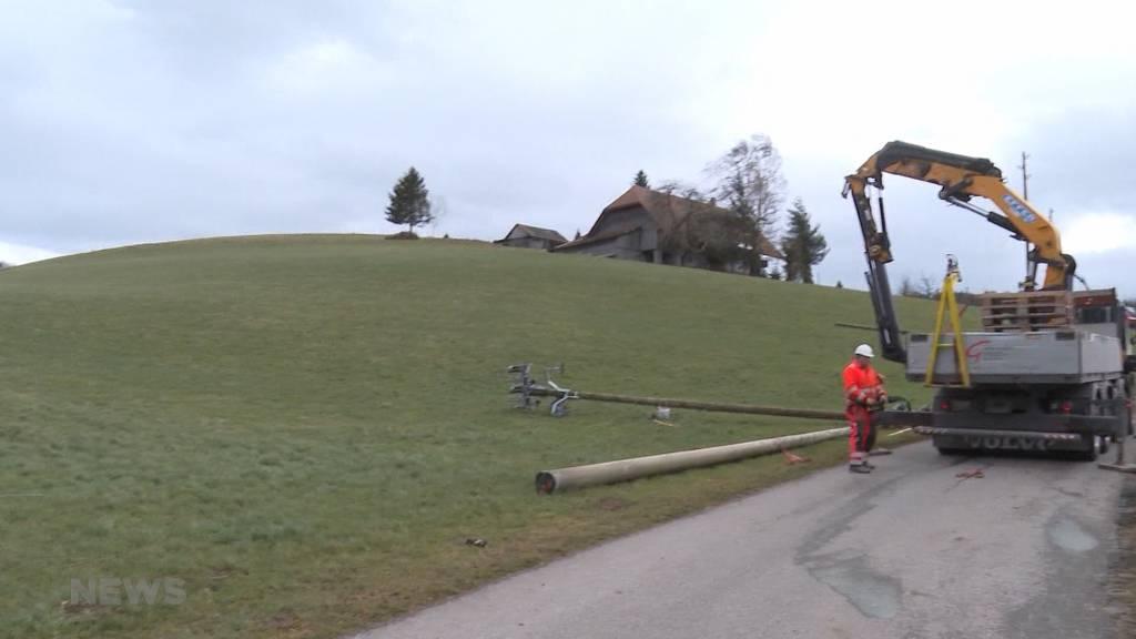 Sturmtief Sabine: Bis zu 120kmh im Flachland