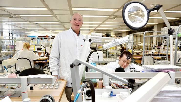 Co-Inhaber André Bernheim will das traditionsreiche Solothurner Familienunternehmen auf der Erfolgsstrasse halten. Mit dazu beitragen soll dieLancierung einer neuen Produktefamilie. Sie wird in der hochmodernen Fabrik in Biberist montiert.