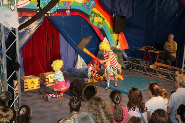 Clowns in Aktion