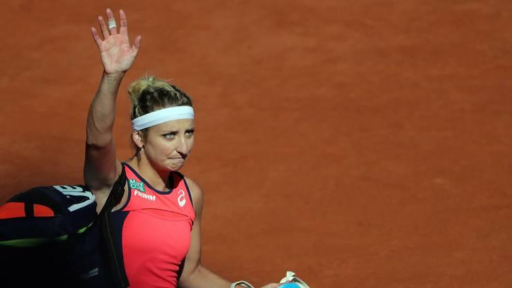 Abschied nehmen: Bacsinszky verpasst den Final an den French Open.