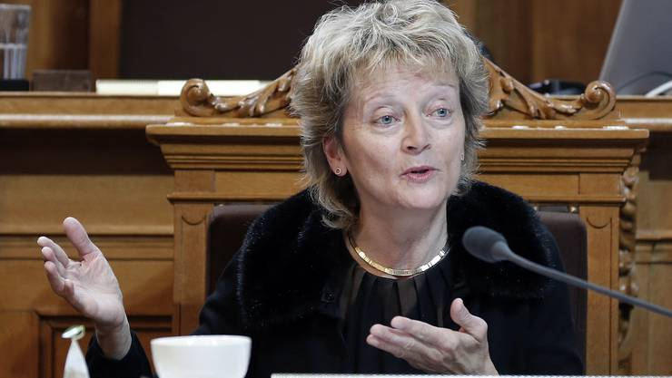 Bundesrätin Eveline Widmer-Schlumpf während der Verhandlung iim Ständerat