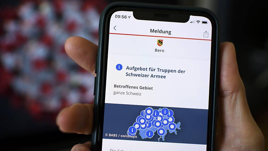 Die Nutzerzahlen der Alarmierungs-App Alertswiss steigen rasant
