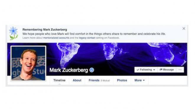 Makaber: Facebook-Gründer Mark Zuckerberg wurde vor einigen Wochen digital für tot erklärt. Foto: HO