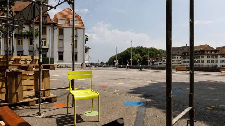 Postplatz heute: Derzeit wird der Platz zwischengenutzt. Wie der Platz einmal aussehen soll, wird noch diskutiert.