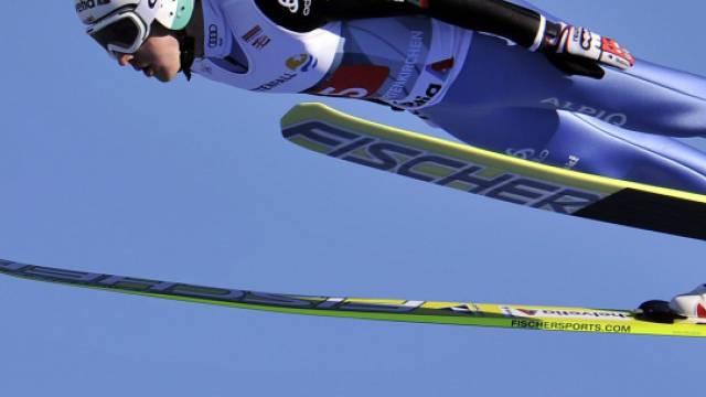 Simon Ammann trotzte dem Wind in Garmisch