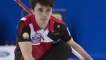 Die Schweizer Nummer 4 Benoît Schwarz ist in Edmonton auf der Höhe seiner Aufgabe