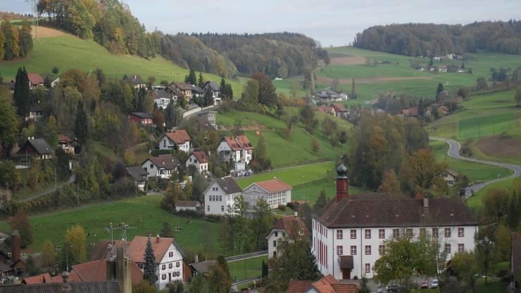 Die Gemeinde Wislikofen (im Bild fällt die markante Propstei auf) liegt im sogenannten Studenland – rund 330 Einwohner zählt sie.