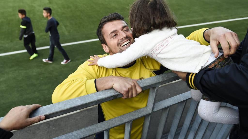 Albert Bunjaku nach einem Spiel für Kosovo in Wil im Jahr 2014.
