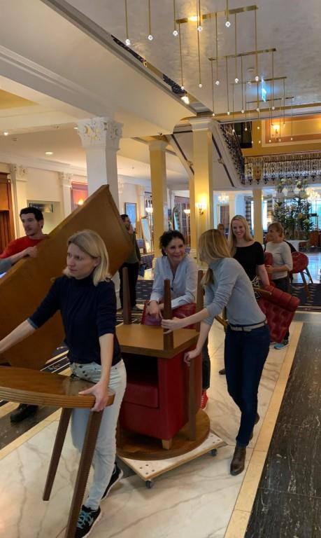 Zügeln im Grand Hotel Quellenhof (© FM1Today Leserreporter)