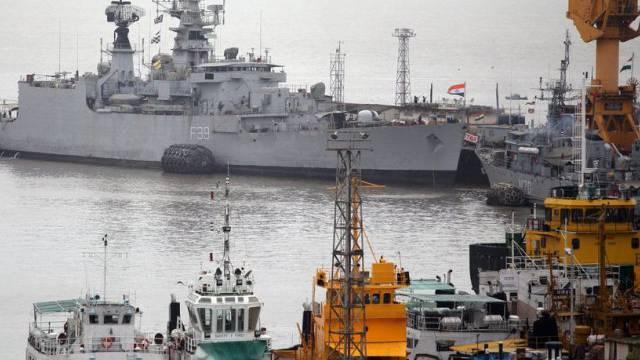 Sicht auf den Hafen von Mumbai