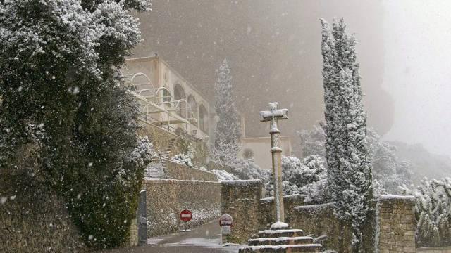 Heftige Schneefälle auf Mallorca im März (Archiv, 2010)