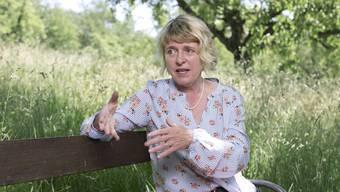 Christiane Guyer im Obstsortengarten von Zofingen. Hier ist sie verwurzelt.