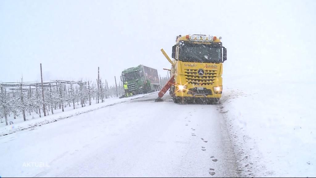 Schnee und Eis: Pannendienst im Einsatz