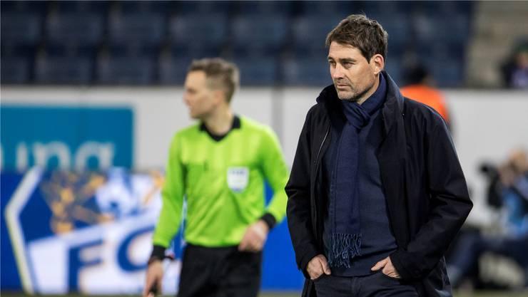 Für René Weiler war das 0:3 gegen Lugano die letzte Partie als Trainer des FC Luzern..keystone