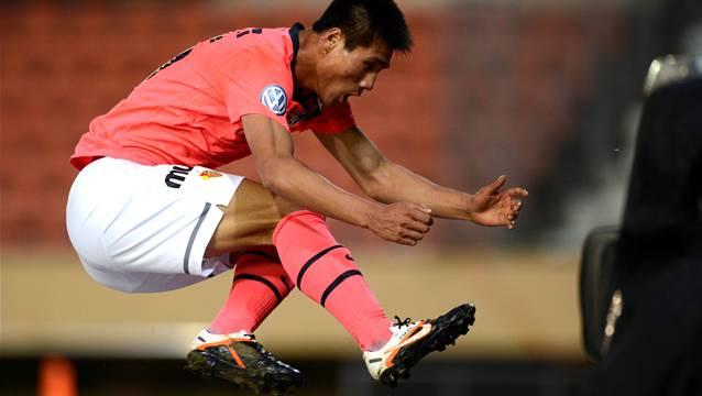 So jubelte Kwang-Ryong Pak, nachdem er im letzten Frühling in Lausanne sein bisher einziges Super-League-Tor erzielt hatte.