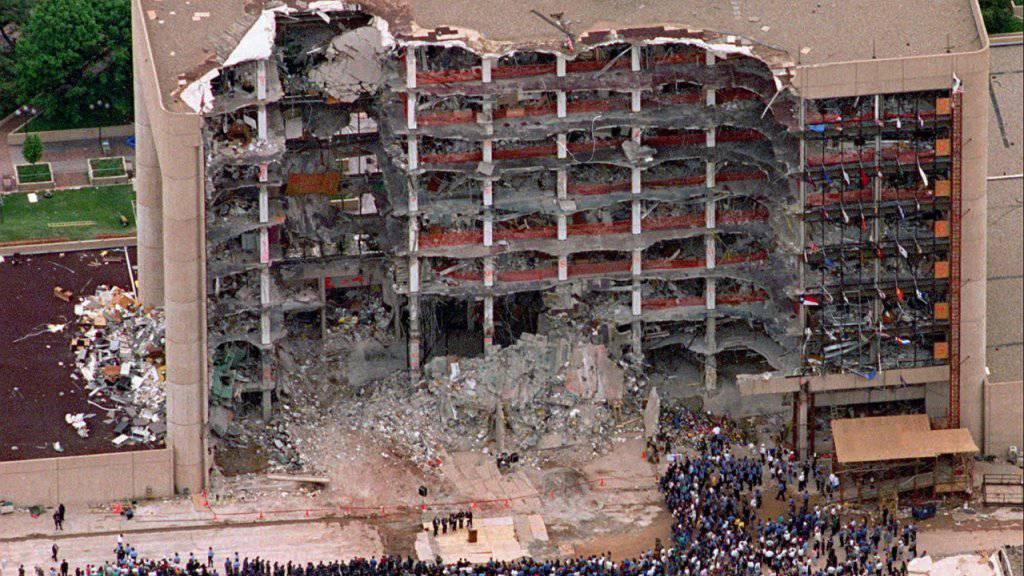 Beim Anschlag auf ein Bundesgebäude in Oklahoma City 1995 kamen 168 Personen ums Leben. (Archivbild)