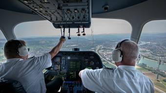 Zeppelin-Flug über Basel