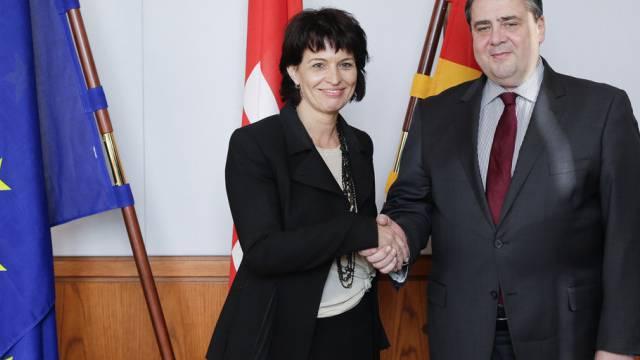 Vizekanzler Gabriel will sich bei der EU für die Schweiz einsetzen