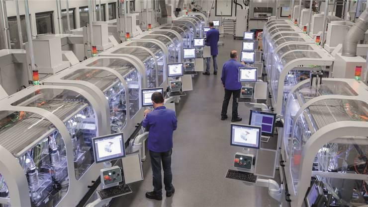 Kapitalintensiv: Aktuellle Uhrenteileproduktion in einem Grenchner ETA-Werk.