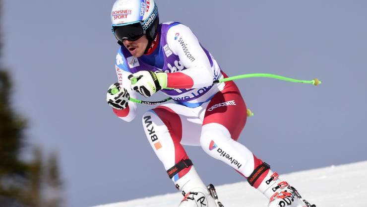 Carlo Janka verliert im zweiten Abfahrts-Training 1,18 Sekunden auf die Bestzeit von Kjetil Jansrud