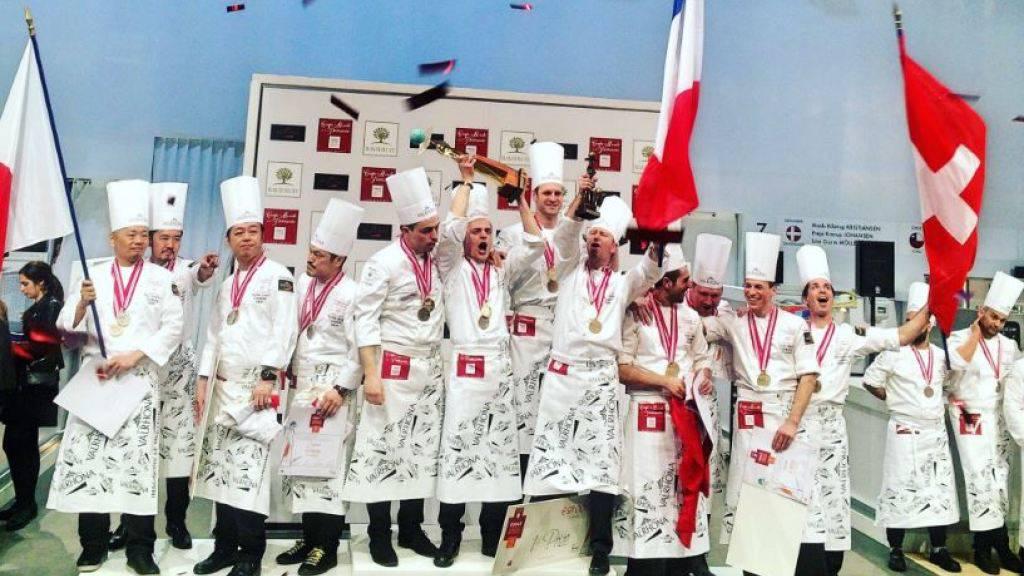 Rang 3 für die Schweizer Konditoren an der Weltmeisterschaft in Lyon. (Bild Sirha)