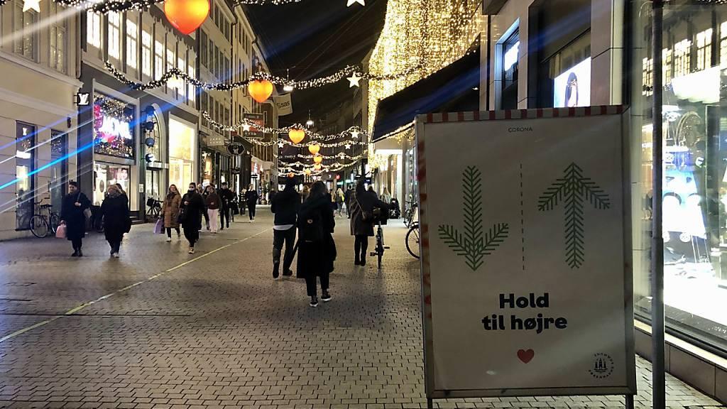 Geschäfte in Dänemark coronabedingt weitgehend dicht