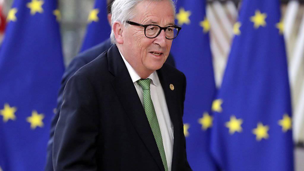 EU-Kommissionspräsident Jean-Claude Juncker ist bereit, mit der Schweiz beim Rahmenabkommen innerhalb der kommenden Tagen über Präzisierungen zu sprechen. Dies geht am Dienstag aus einem Antwortschreiben Junckers an die Schweiz hervor. (Archiv)