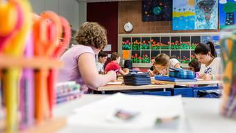 Kleinklassen sind an der Kreisschule Aarau-Buchs nicht vorgesehen. Das erregt Unmut. (Archivbild)