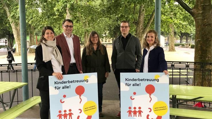 Die Basler SP hat am Mittwoch die Volksinitiative «Kinderbetreuung für alle» lanciert.