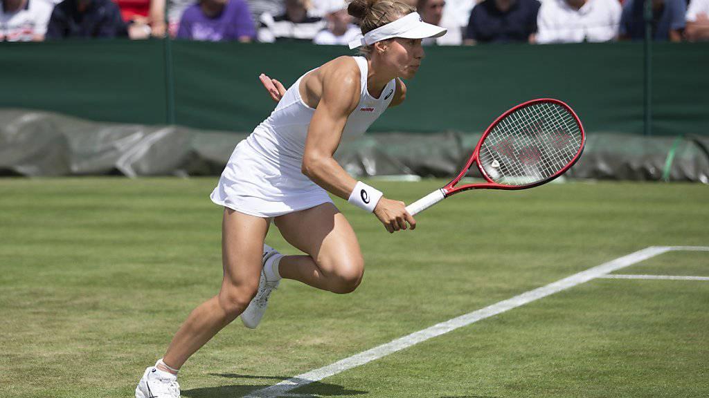Für Viktorija Golubic bedeutete die 3. Runde in Wimbledon Endstation