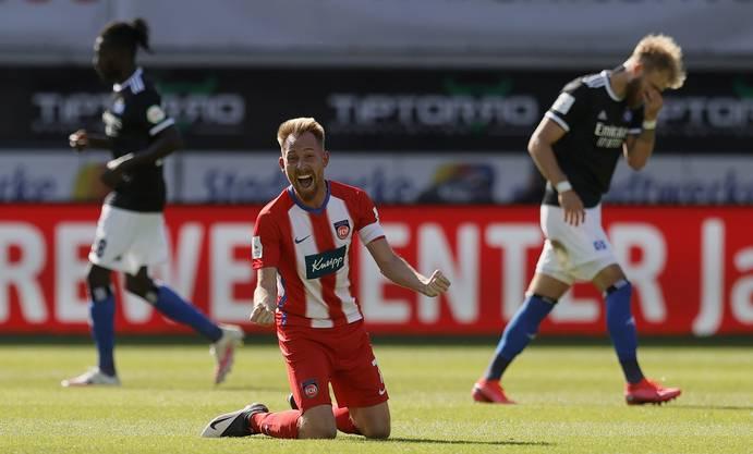 Heidenheims Captain Marc Schnatterer nach dem Sieg gegen den HSV am 32. Spieltag.