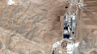 Überhastete Flucht: Satellitenbild der Lafarge-Zementfabrik Google