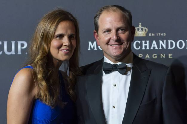 Federer-Manager Tony Godsick mit seiner Frau, der ehemaligen Tennis-Spielerin Mary Joe Fernandez (Bild: Keystone).