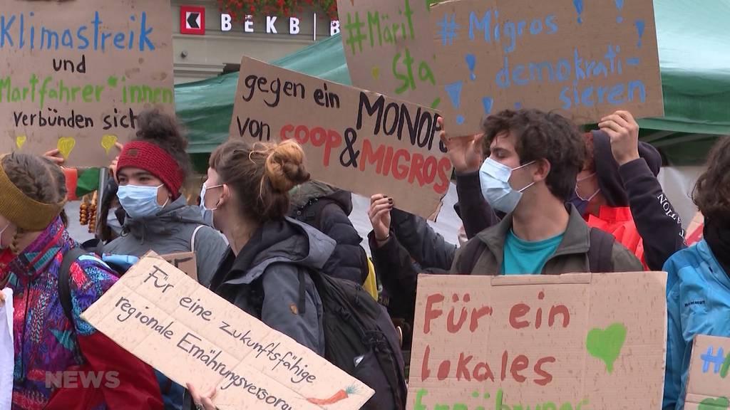 Gemeinsamer Feind: Klima-Jugend und Markt-Fahrer spannen zusammen gegen die Stadt Bern
