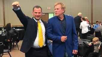 Tobias Steiger und David Duke, ehemaliger Anführer des amerikanischen Ku Klux Klans.