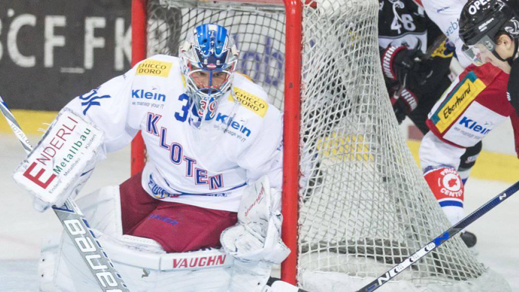 Auch Klotens Goalie Luca Boltshauser konnte die 6. Niederlage im 6. Spiel nicht verhindern
